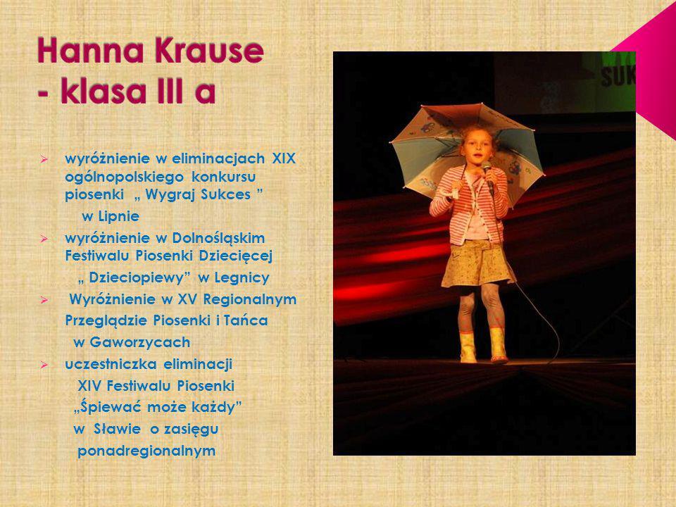 Hanna Krause - klasa III a