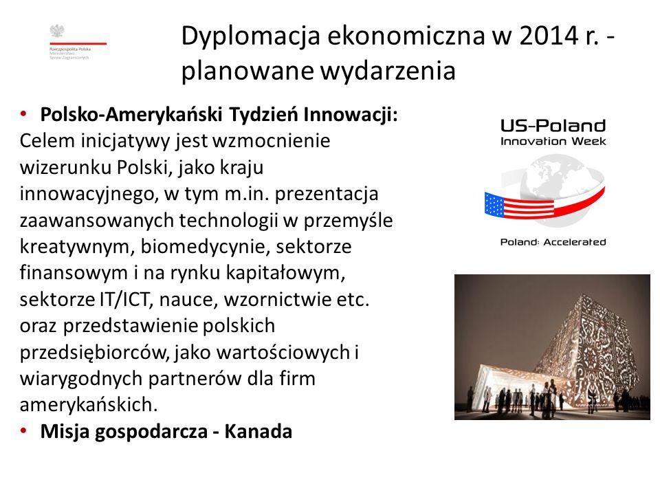 Dyplomacja ekonomiczna w 2014 r. - planowane wydarzenia