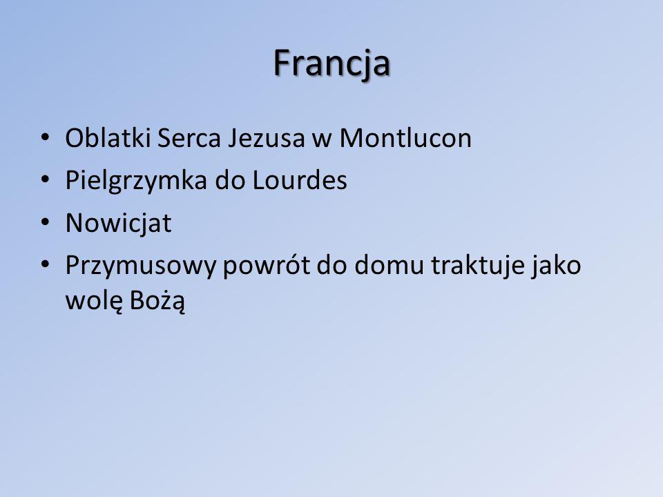 Francja Oblatki Serca Jezusa w Montlucon Pielgrzymka do Lourdes