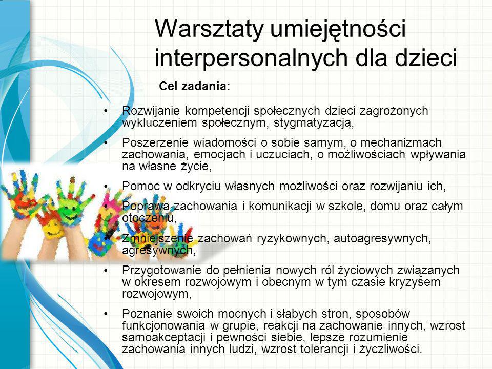 Warsztaty umiejętności interpersonalnych dla dzieci