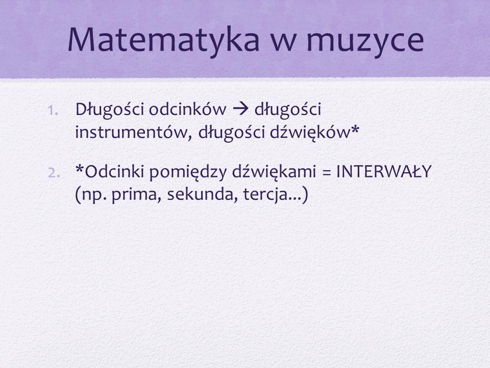 Matematyka w muzyce Długości odcinków  długości instrumentów, długości dźwięków*