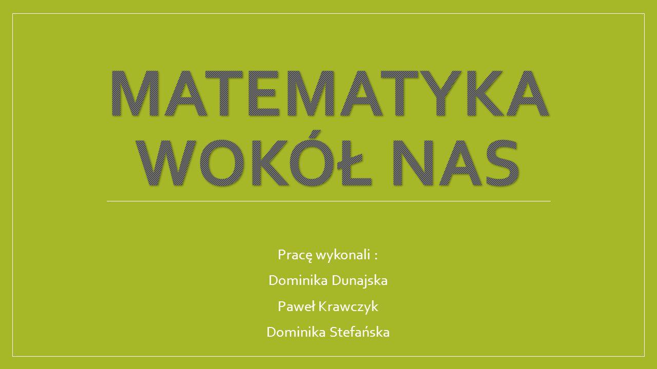 Pracę wykonali : Dominika Dunajska Paweł Krawczyk Dominika Stefańska