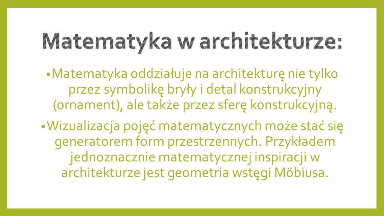 Matematyka w architekturze: