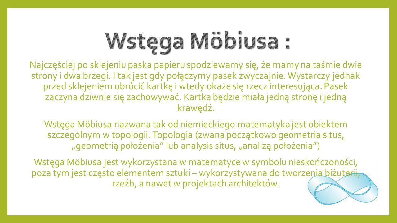 Wstęga Möbiusa :