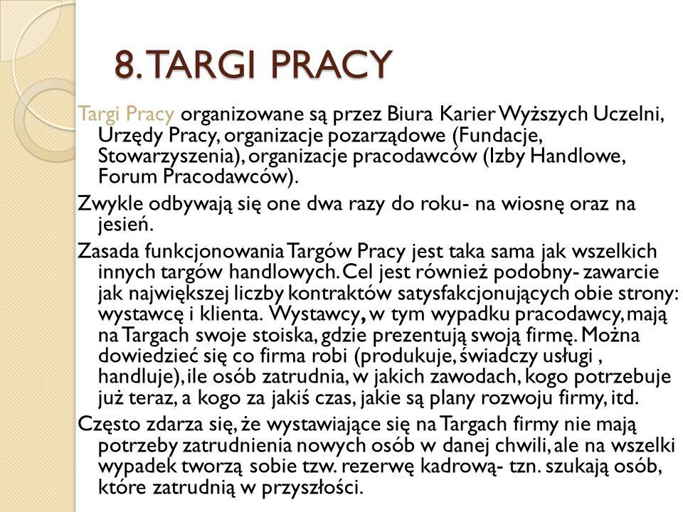 8. TARGI PRACY