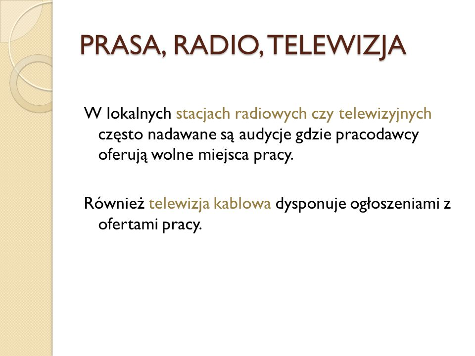 PRASA, RADIO, TELEWIZJA
