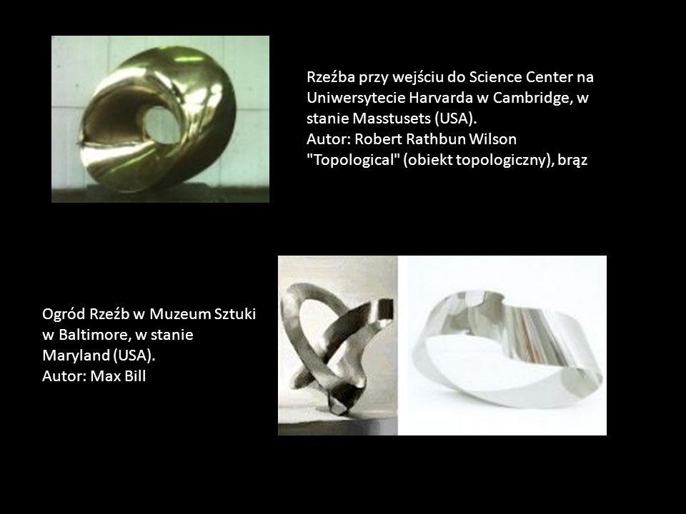 Rzeźba przy wejściu do Science Center na Uniwersytecie Harvarda w Cambridge, w stanie Masstusets (USA). Autor: Robert Rathbun Wilson Topological (obiekt topologiczny), brąz