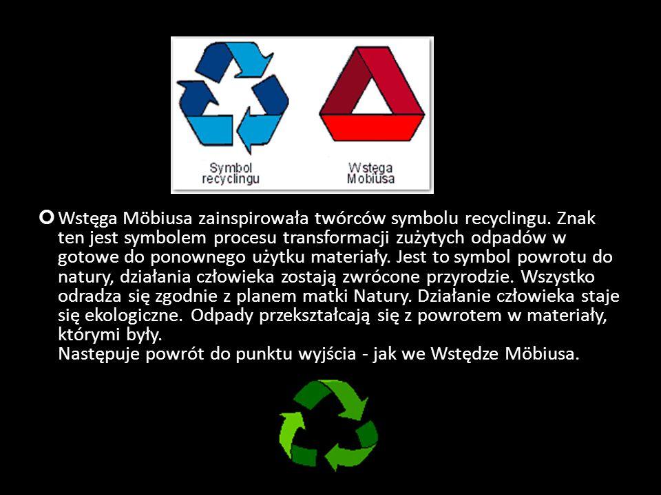 Wstęga Möbiusa zainspirowała twórców symbolu recyclingu