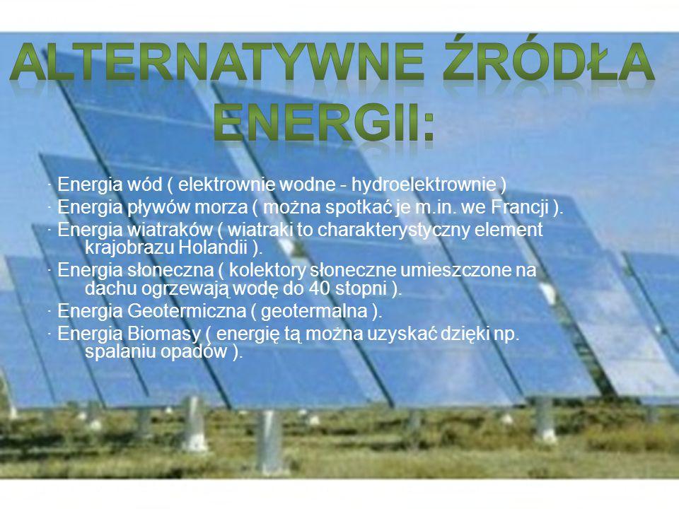 Alternatywne źródła Energii: