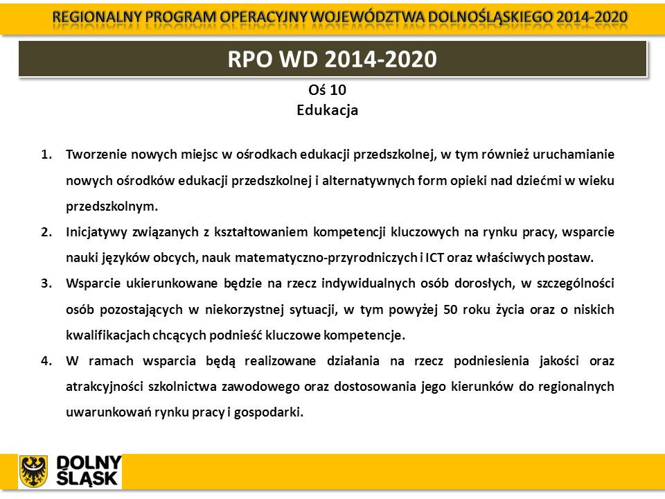 Regionalny Program Operacyjny Województwa Dolnośląskiego 2014-2020