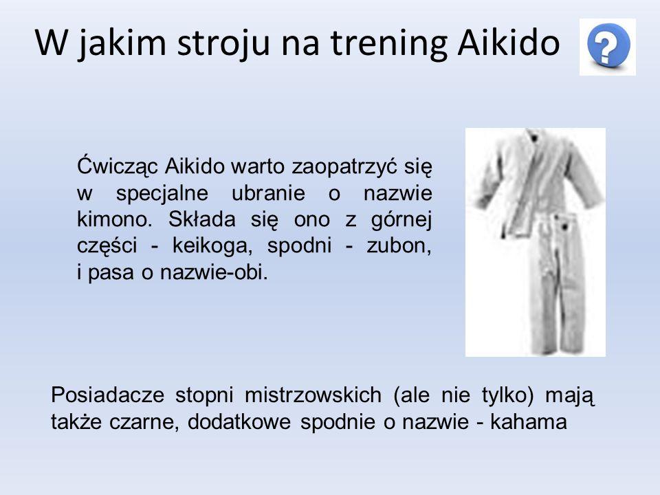 W jakim stroju na trening Aikido