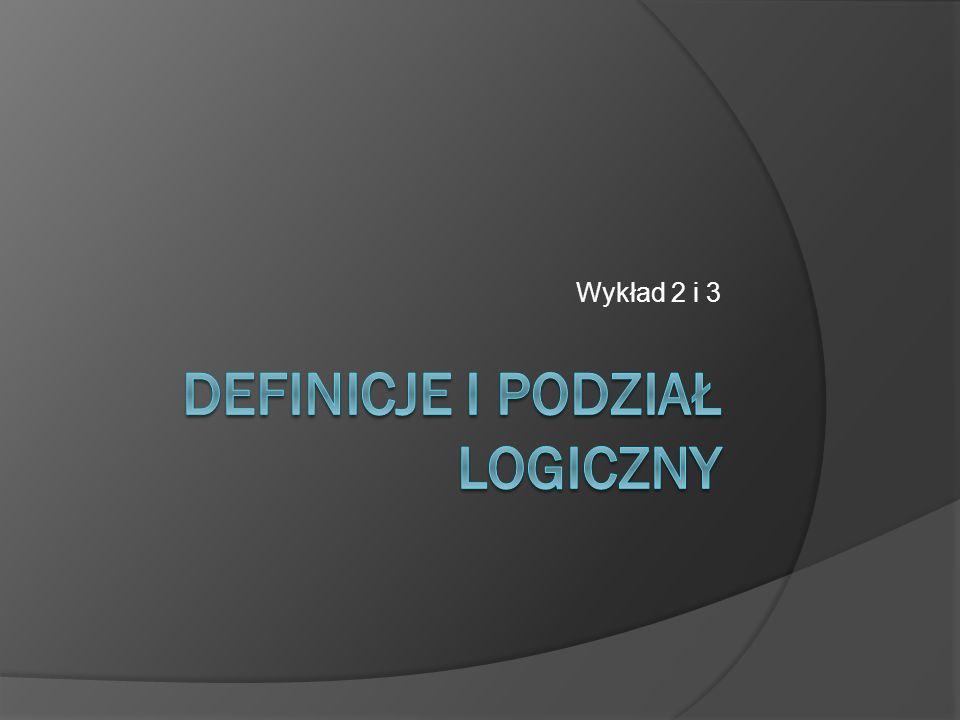 Definicje i podział logiczny