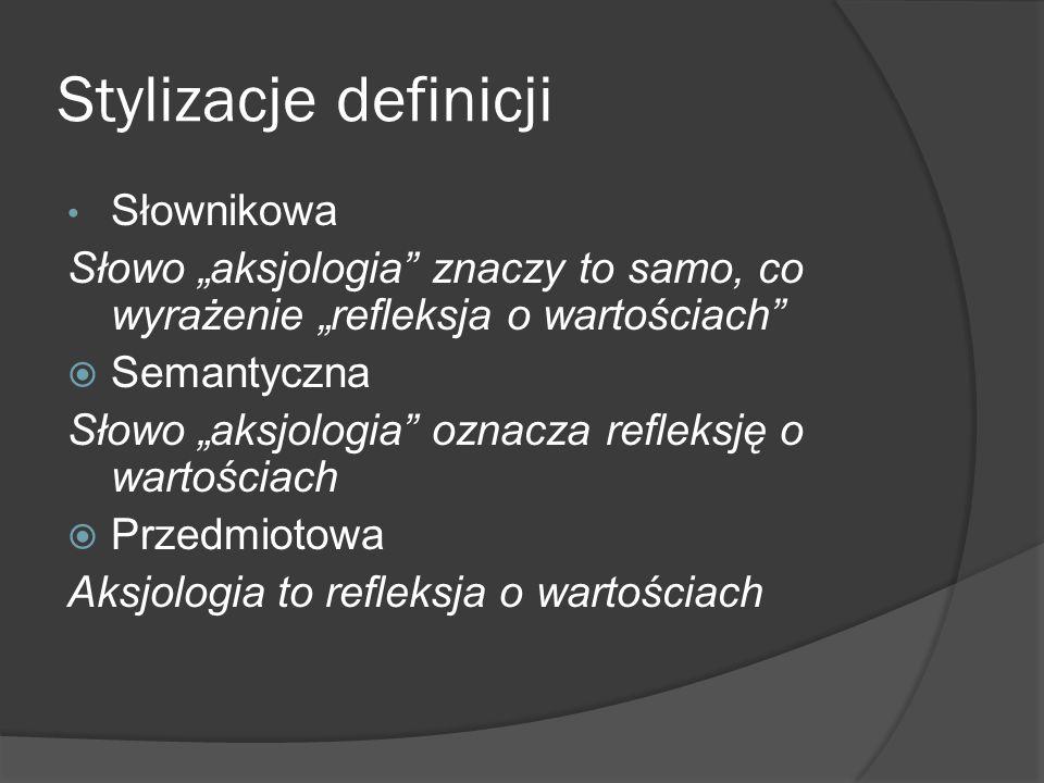 Stylizacje definicji Słownikowa