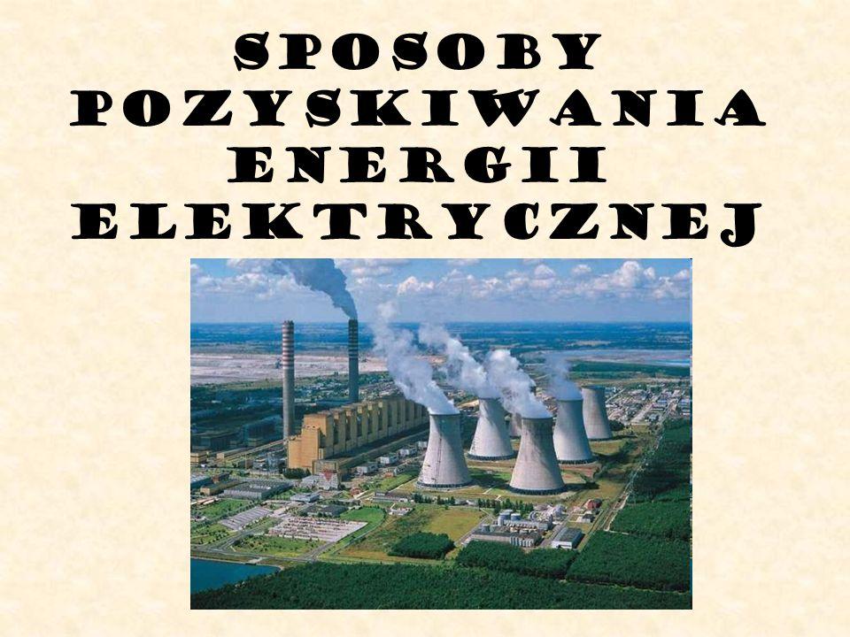 SPOSOBY POZYSKIWANIA ENERGII elektrycznej