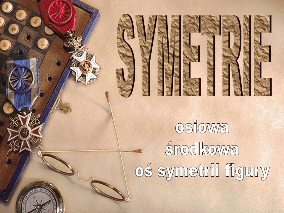 SYMETRIE osiowa środkowa oś symetrii figury