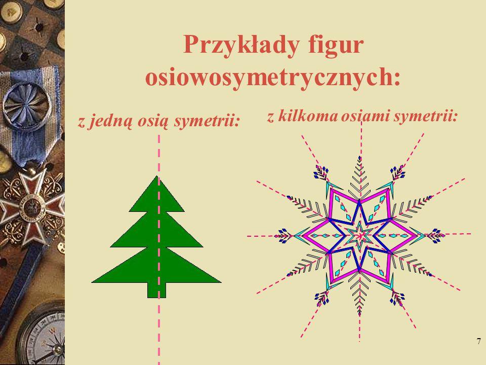 Przykłady figur osiowosymetrycznych: