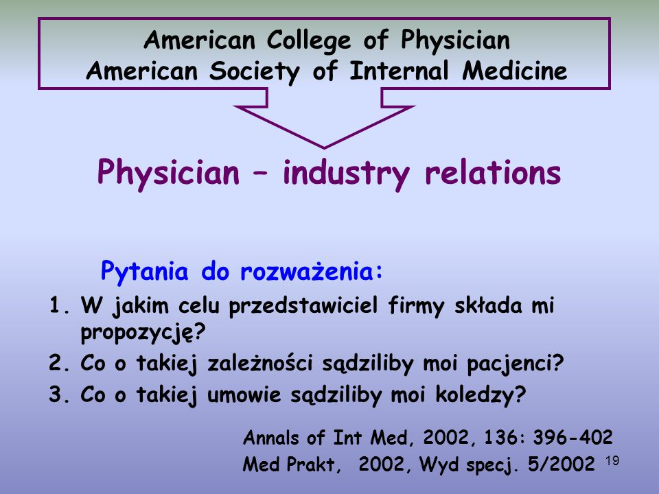 American College of Physician American Society of Internal Medicine