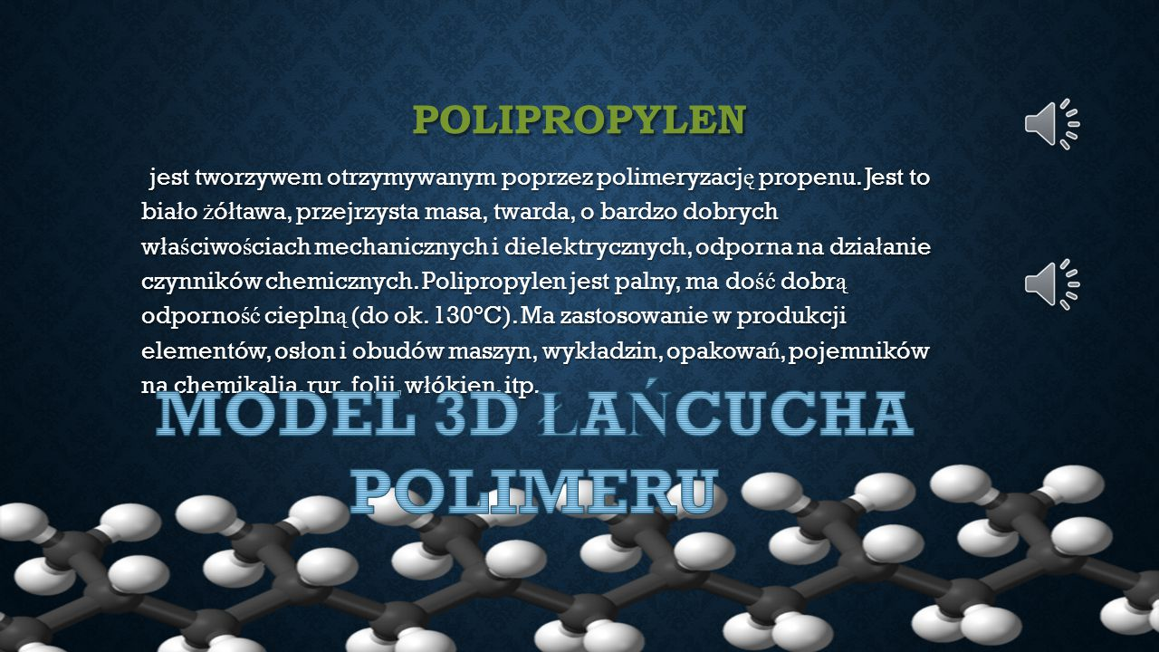 MODEL 3D ŁAŃCUCHA POLIMERU