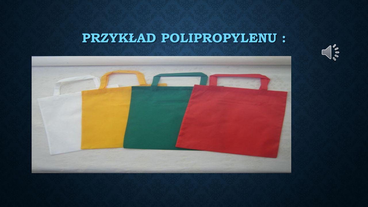 Przykład polipropylenu :