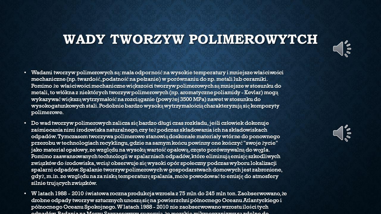 WADY TWORZYW POLIMEROWYTCH