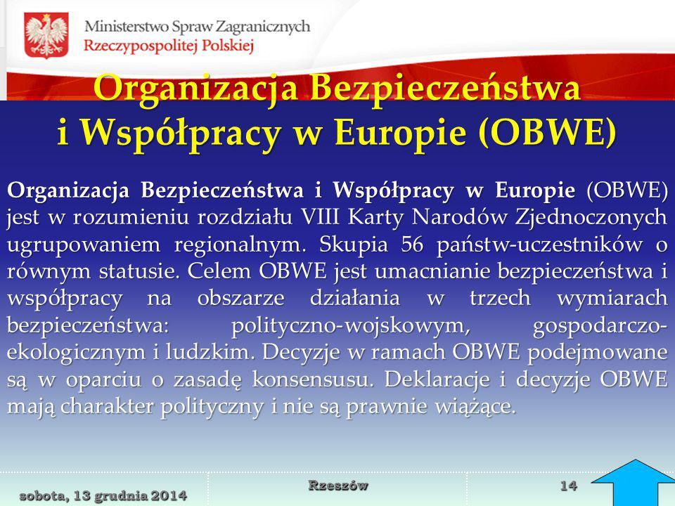 Organizacja Bezpieczeństwa i Współpracy w Europie (OBWE)