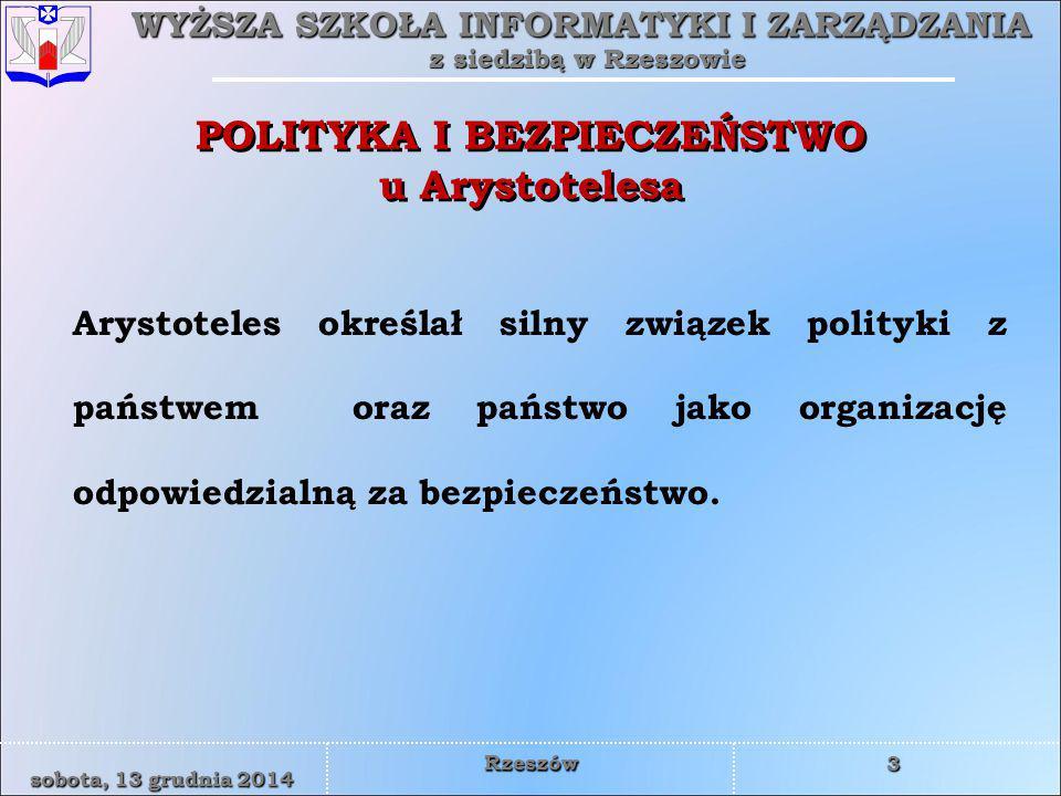 POLITYKA I BEZPIECZEŃSTWO u Arystotelesa