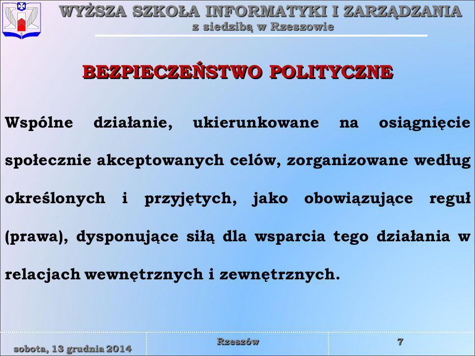 BEZPIECZEŃSTWO POLITYCZNE