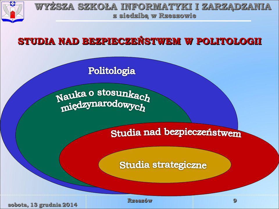 STUDIA NAD BEZPIECZEŃSTWEM W POLITOLOGII