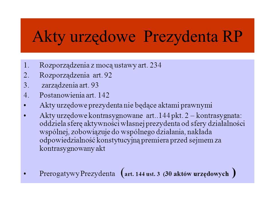 Akty urzędowe Prezydenta RP