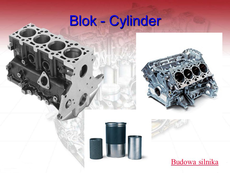 Blok - Cylinder Budowa silnika