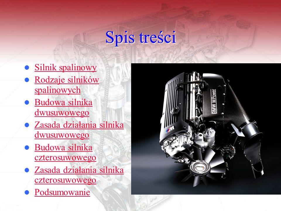 Spis treści Silnik spalinowy Rodzaje silników spalinowych