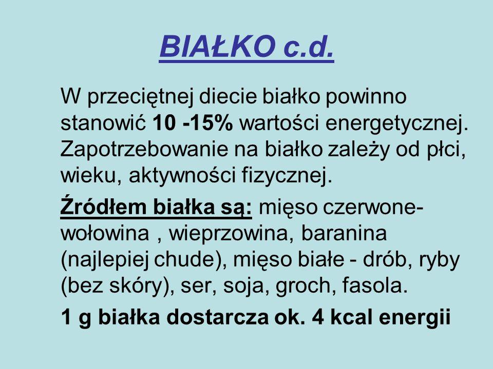 BIAŁKO c.d.