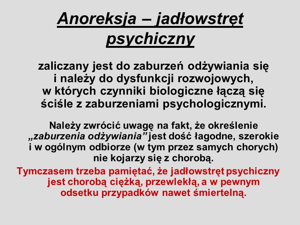 Anoreksja – jadłowstręt psychiczny