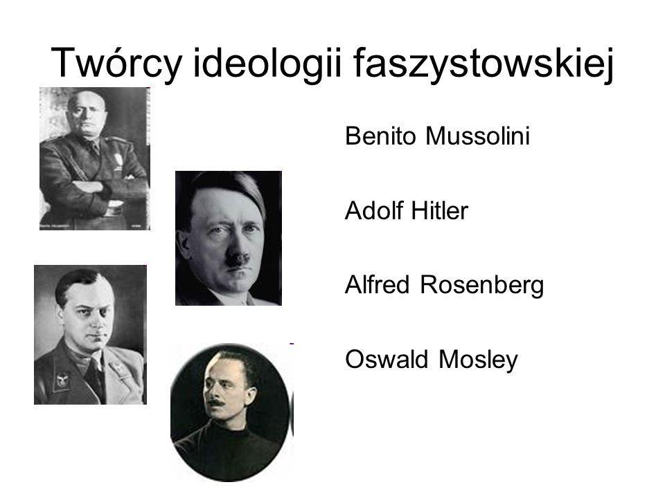 Twórcy ideologii faszystowskiej