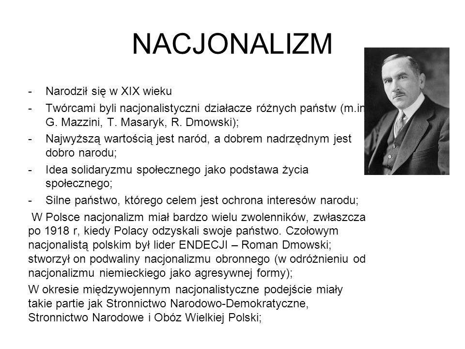 NACJONALIZM Narodził się w XIX wieku