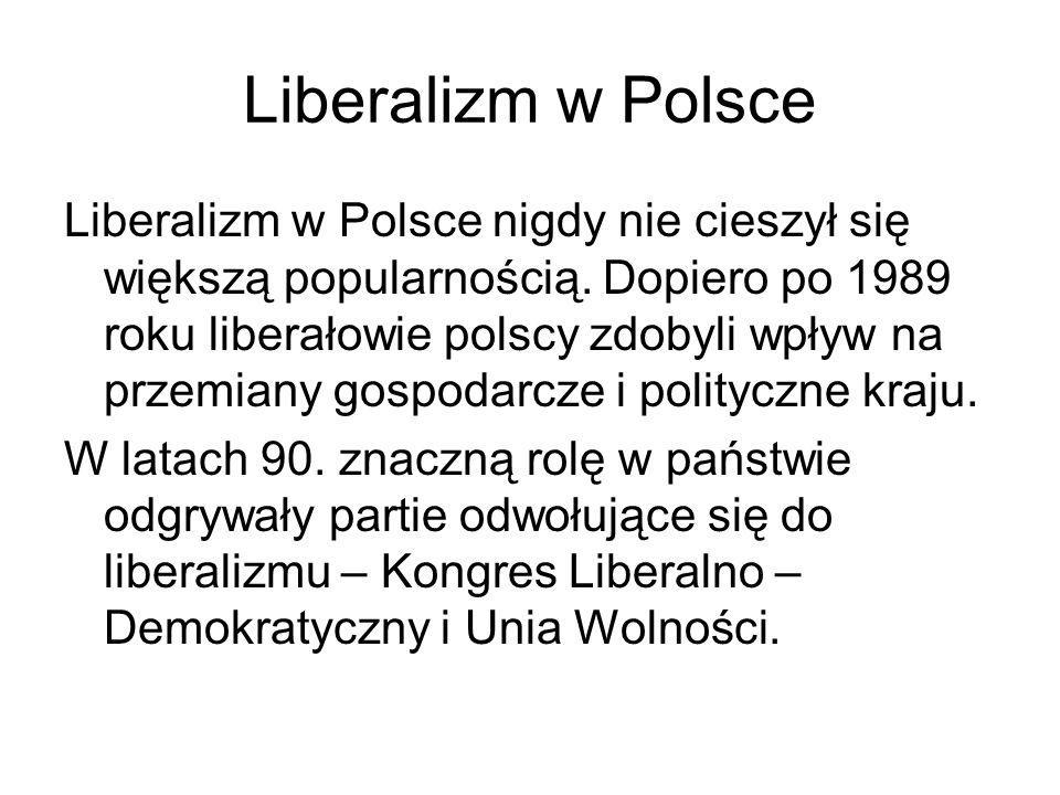 Liberalizm w Polsce
