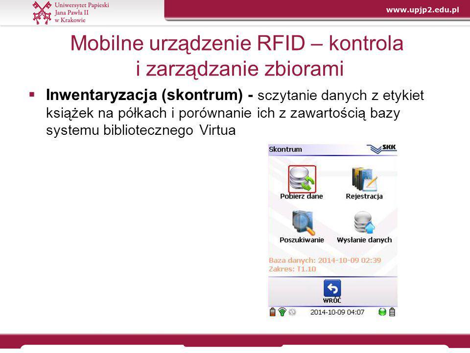 Mobilne urządzenie RFID – kontrola i zarządzanie zbiorami