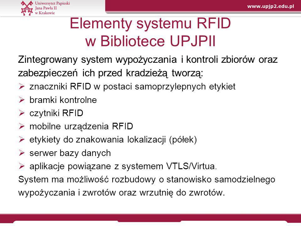 Elementy systemu RFID w Bibliotece UPJPII