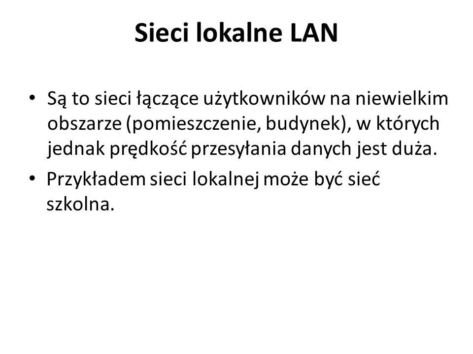 Sieci lokalne LAN