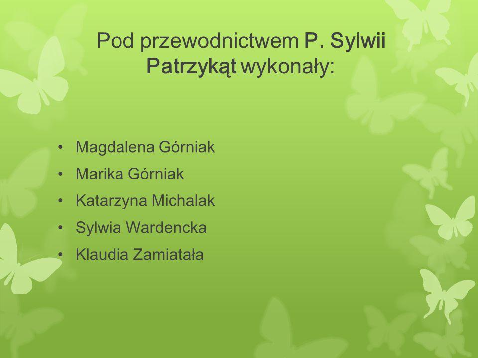 Pod przewodnictwem P. Sylwii Patrzykąt wykonały: