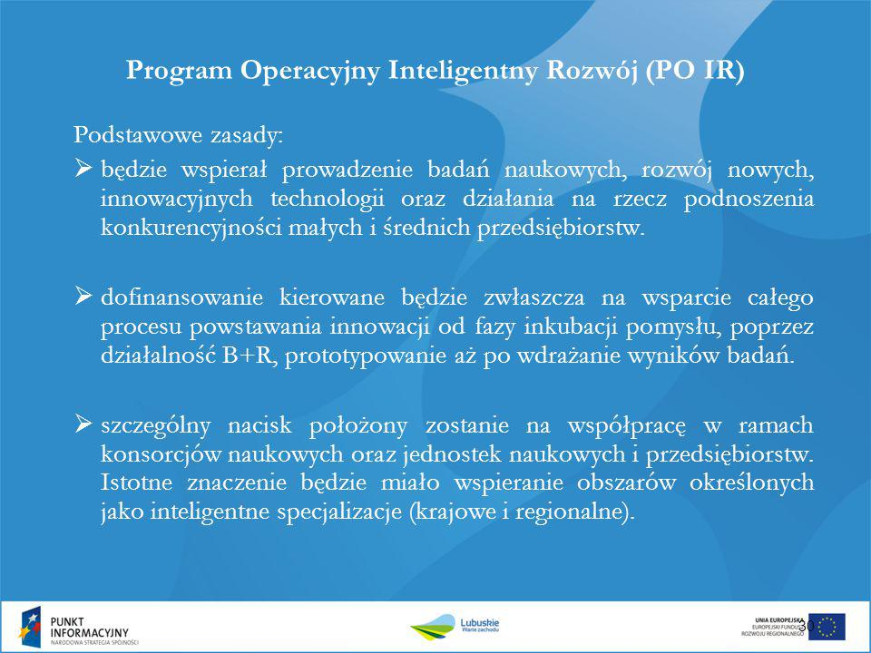 Program Operacyjny Inteligentny Rozwój (PO IR)