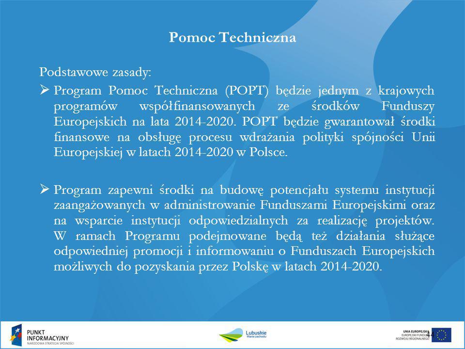 Pomoc Techniczna Podstawowe zasady: