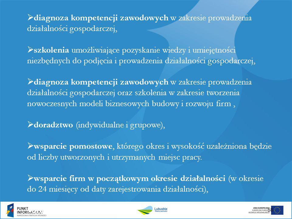 diagnoza kompetencji zawodowych w zakresie prowadzenia działalności gospodarczej,