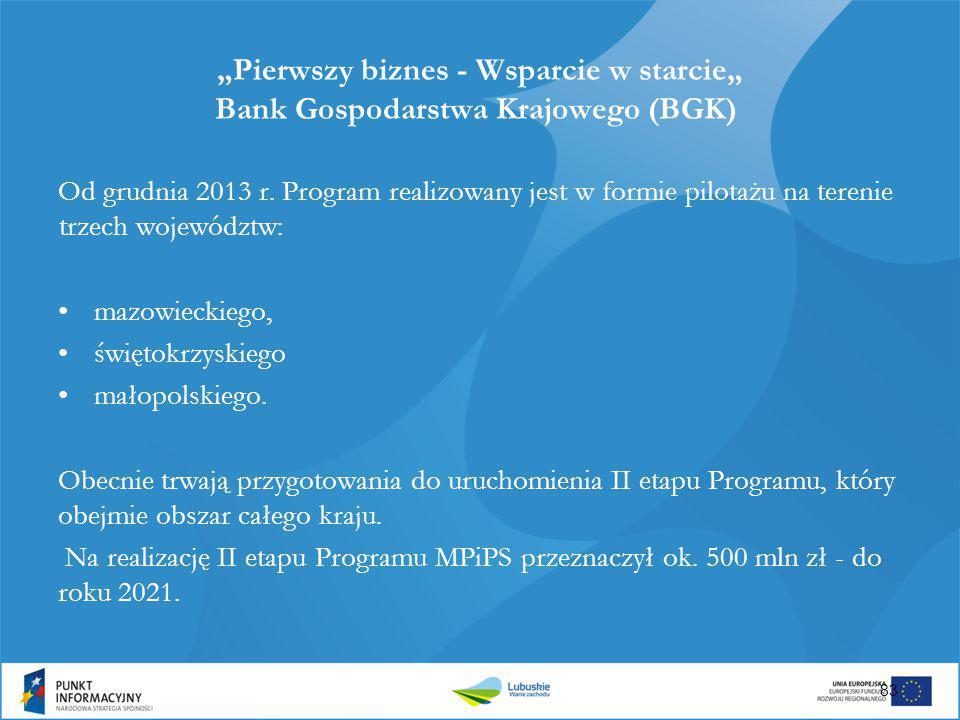 """""""Pierwszy biznes - Wsparcie w starcie"""" Bank Gospodarstwa Krajowego (BGK)"""