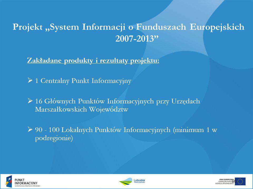 """Projekt """"System Informacji o Funduszach Europejskich 2007-2013"""