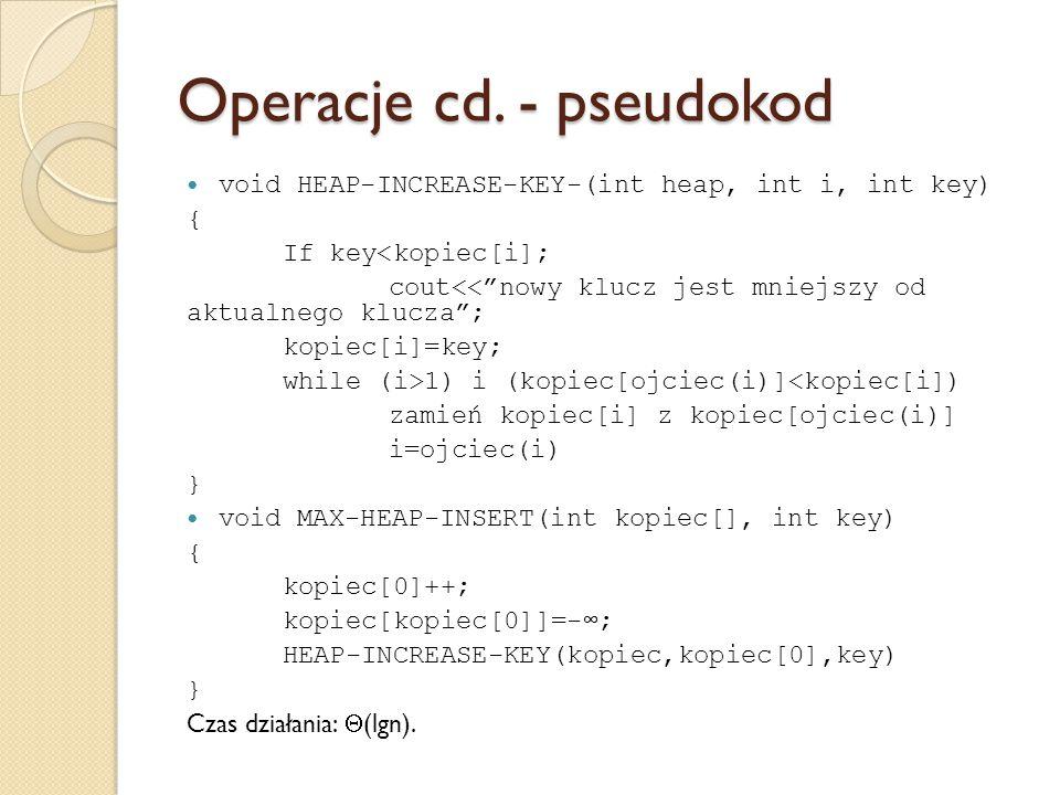 Operacje cd. - pseudokod