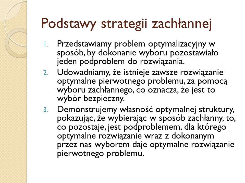 Podstawy strategii zachłannej