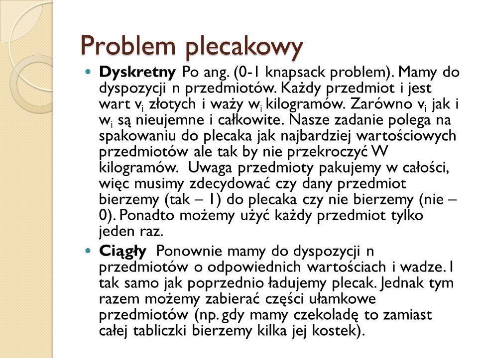 Problem plecakowy