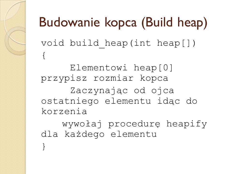 Budowanie kopca (Build heap)