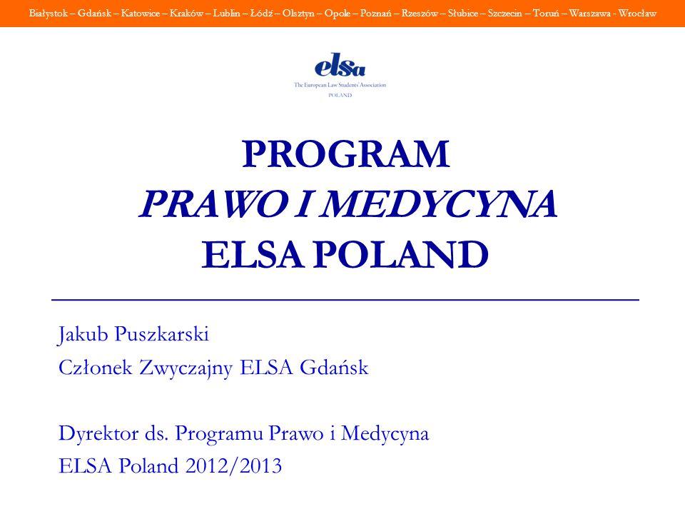 Program Prawo i Medycyna ELSA Poland